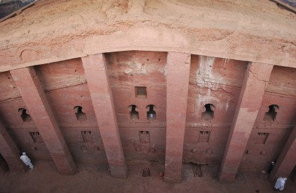 Bet Medhane - the largest rock hewn church in the world