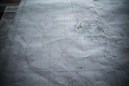 The map of McMurdo sound showing the paths needing to be cut