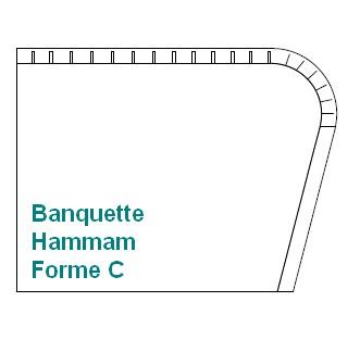 BANQUETTE à fabriquer forme C
