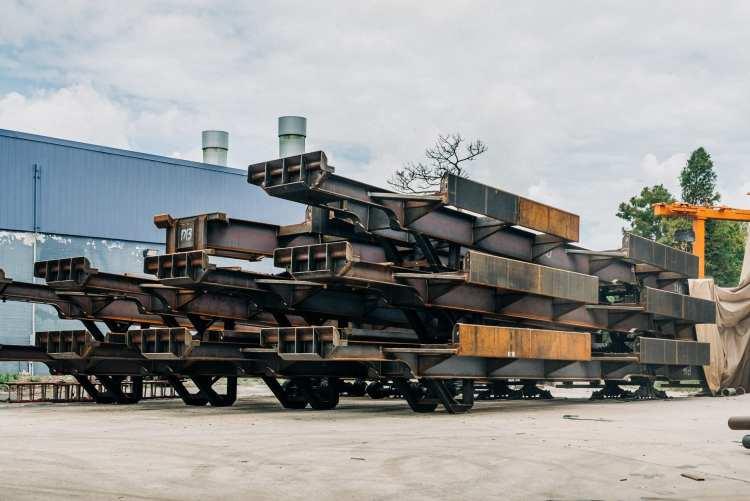Steel fabricated trailers unpainted