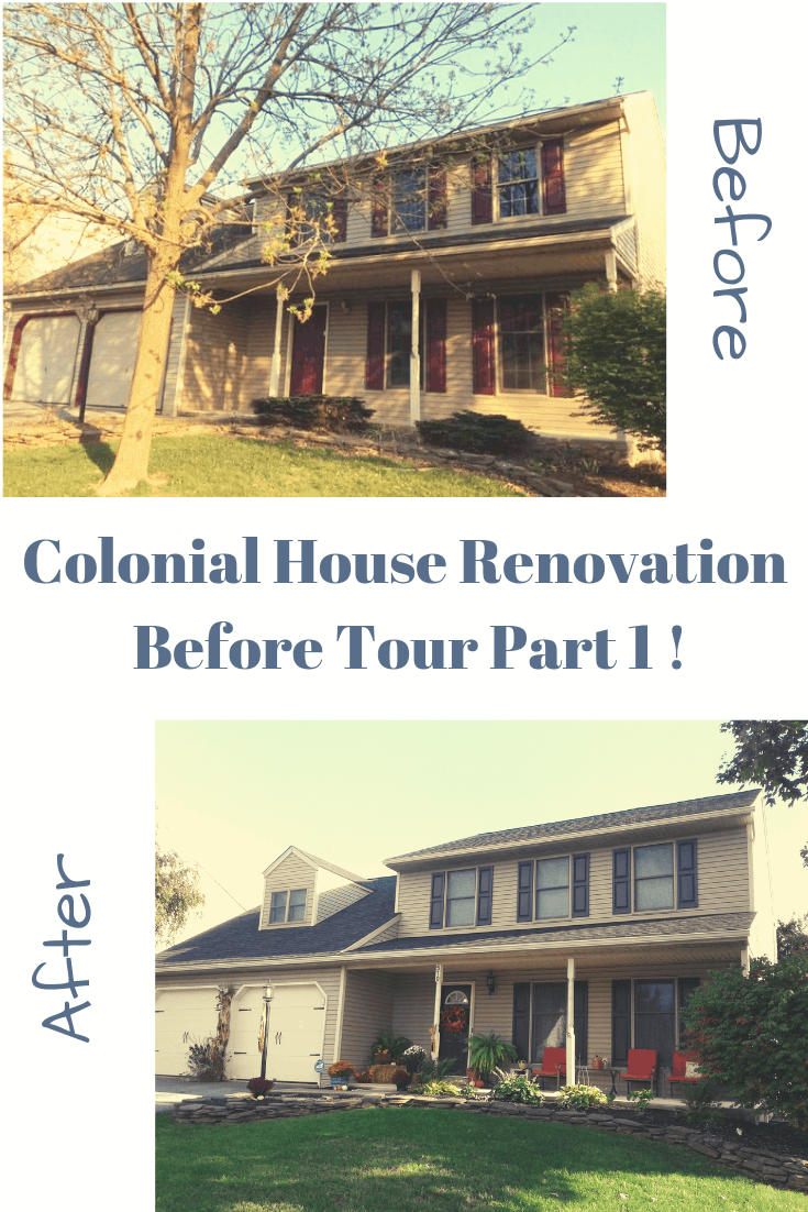 colonial house renovation before tour