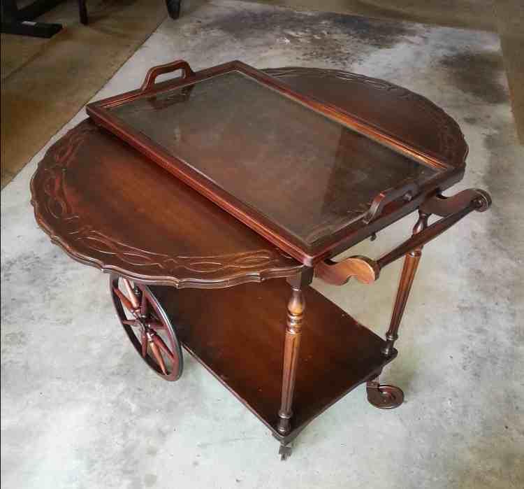 create a vintage coffee cart