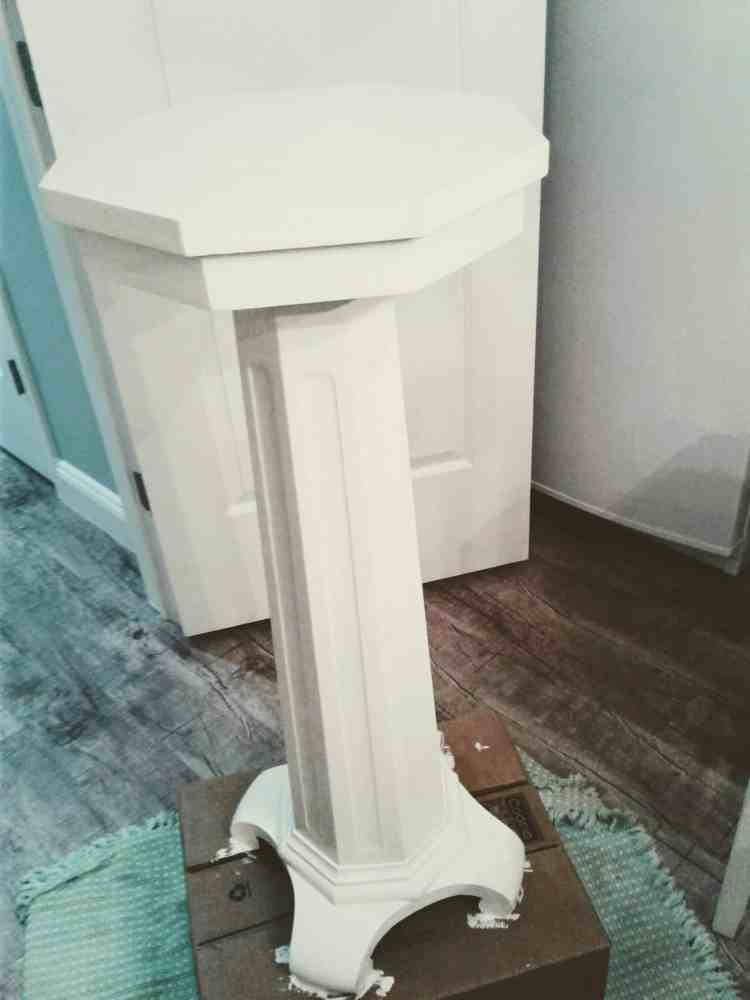 transform furniture from stained to shabby chic