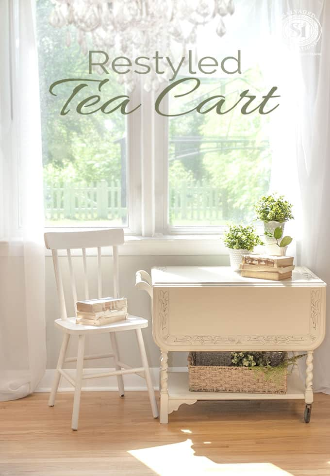 create a vintage tea cart