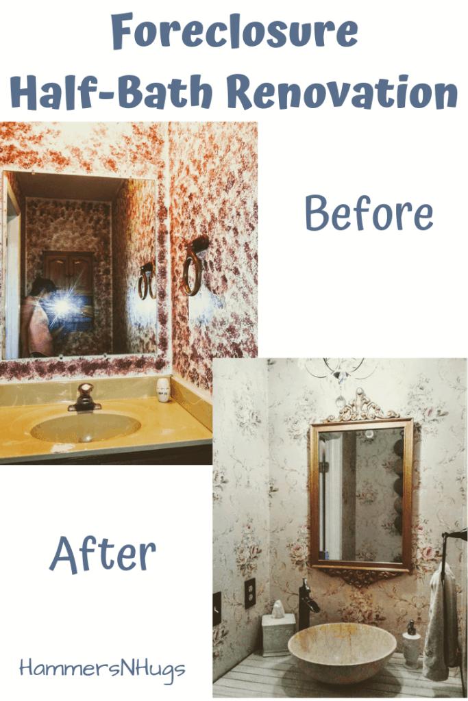 colonial foreclosure bathroom renovation