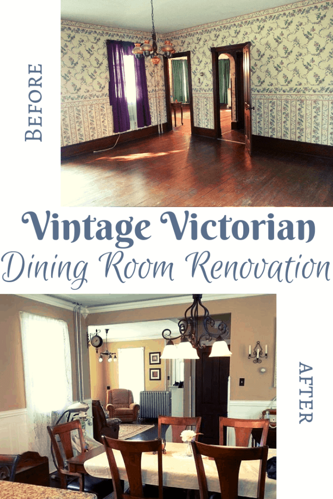 vintage victorian dining room renovation