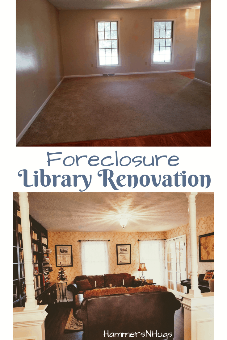 colonial foreclosure library renovation