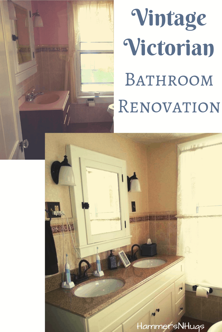Vintage victorian bathroom renovation