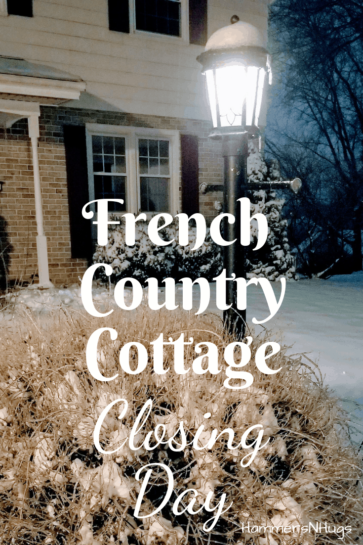 french country cottage closing day celebration