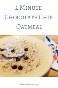 2 Minute Chocolate Chip Oatmeal