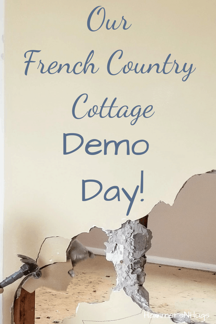 french country cottage demo day