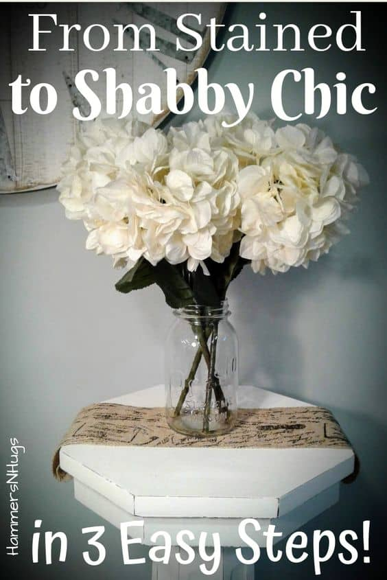 How to Refinish Furniture to Shabby Chic Style in 3 Easy Steps