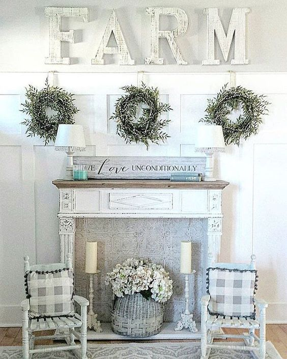 how to decorate with a fireplace mantel