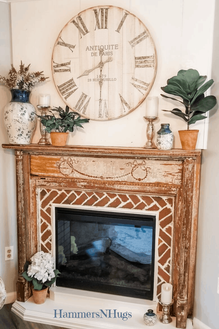 French Country Farmhouse Reclaimed Fireplace Reveal