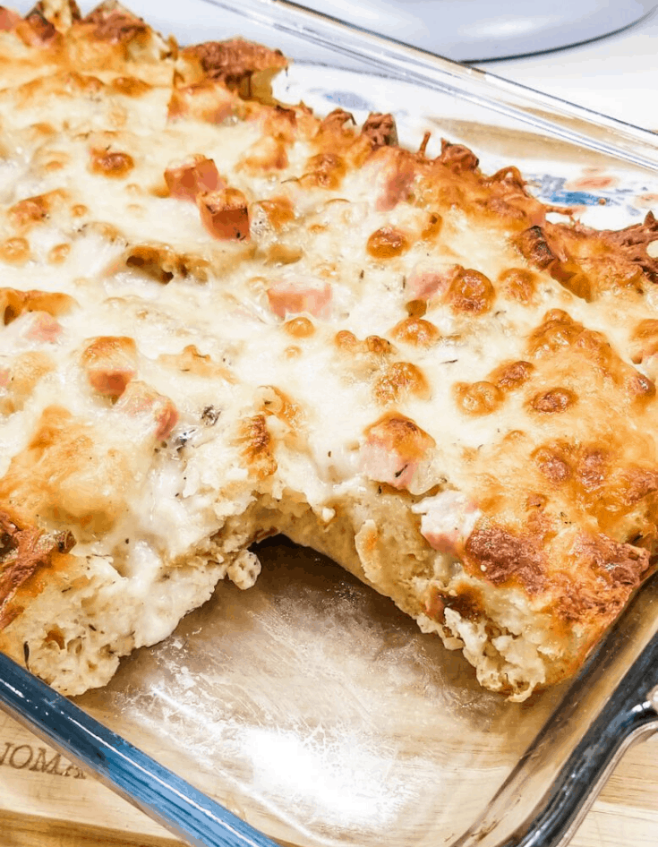 Smokey Ham & Cheese Egg Casserole Recipe