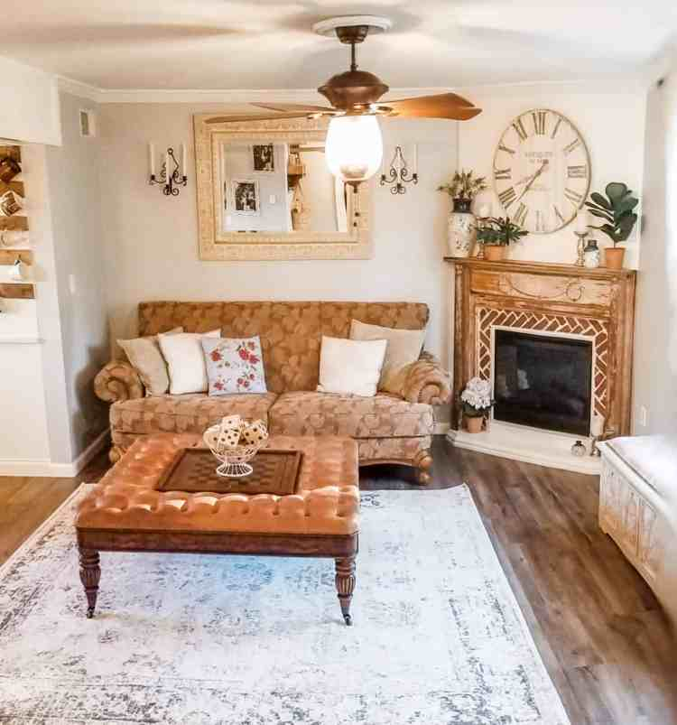 French Country Cottage Living Room Renovation
