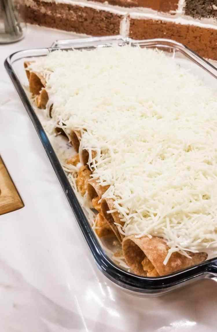 Baked Chicken Enchiladas Recipe