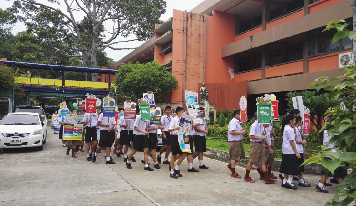 Students promoting healthier lifestyle
