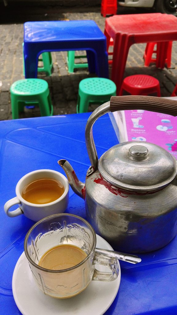 Burmese tea and coffee