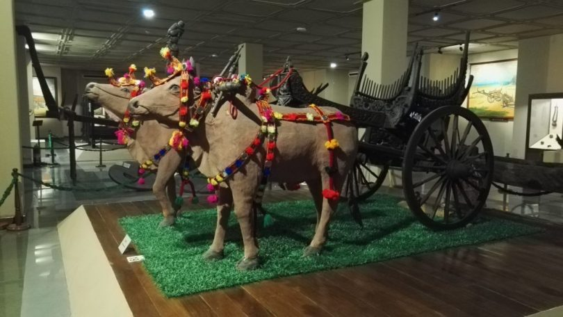 Ox cart at the National Museum