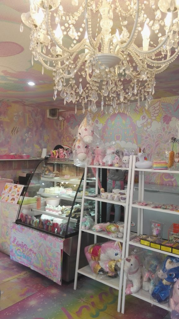 the display at Unicorn Cafe