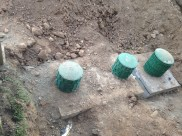 New septic and pump tanks