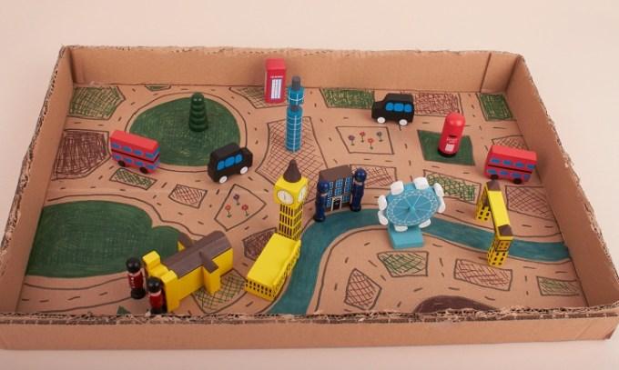 cara membuat mainan dari kardus
