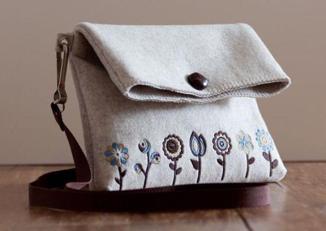kerajinan tas dari kain flanel