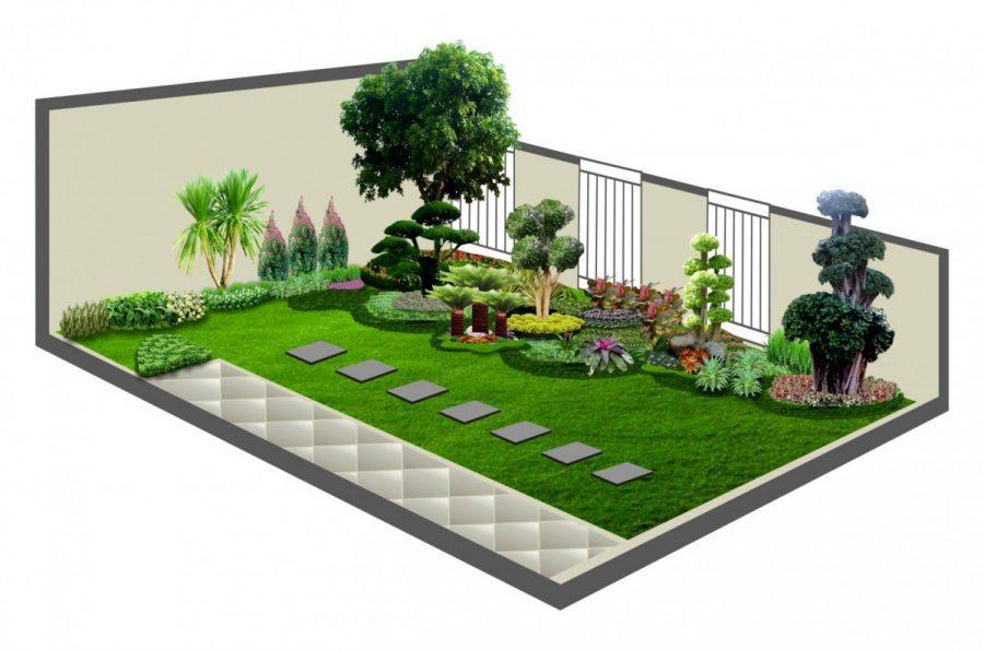 90 Desain Taman Minimalis Modern Mudah Dibuat Dan Terbaru 2018