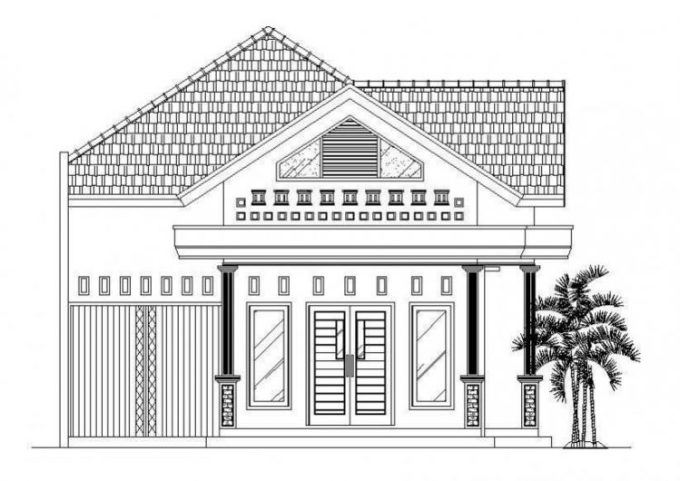 7800 Gambar Rumah Pake Pensil Gratis Terbaru