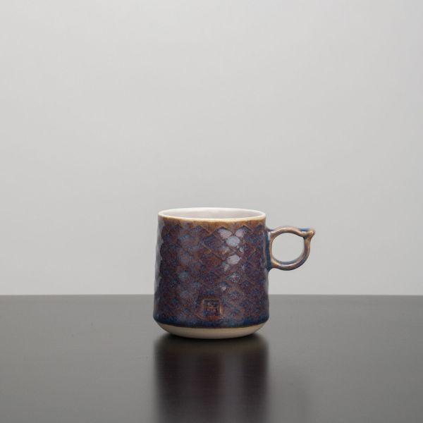 Håndlavet keramik krus med hank - Blå - Hampen Keramik