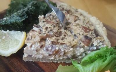 Vegaaninen ja gluteeniton sienipiirakka