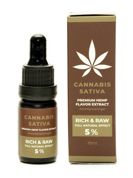 CBD-öljy 5%_Rich & Raw_Premium Hemp Flavor Extract_10ml