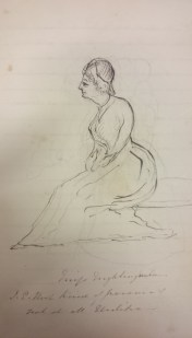 A sketch of Florence Nightingale by Sir William Norcott