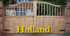 stylish wooden gates Hampshire