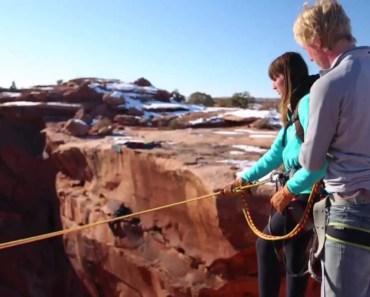 Boyfriend pushes Girlfriend off cliff - Insane Rope Swing - boyfriend pushes girlfriend off cliff insane rope swing