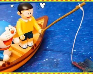 Doraemon vs Nobita Fishing in Sea - Funny Video Cartoon Doremon in Hindi - Mini Toy for kid - doraemon vs nobita fishing in sea funny video cartoon doremon in hindi mini toy for kid