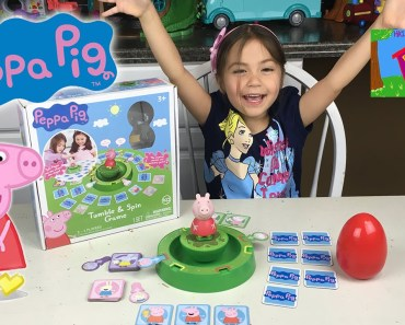 FUN PEPPA PIG TUMBLE & SPIN GAME Surprise Egg Minions Silly Funny Memory Activity Kids Surprise Toys - fun peppa pig tumble spin game surprise egg minions silly funny memory activity kids surprise toys