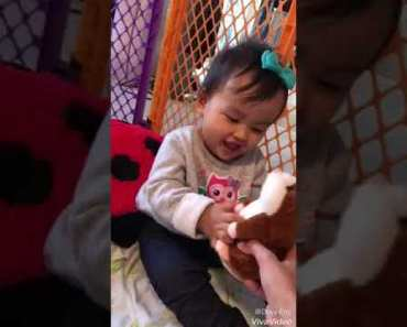 Playing with talking hamster -baby funny video - playing with talking hamster baby funny video