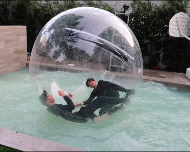 TWINS STUCK IN GIANT BUBBLE BALL! - twins stuck in giant bubble ball
