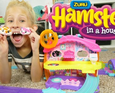 GIANT TRACK CHALLENGE!! ZURU'S HAMSTERS IN A HOUSE REVIEW AND UNBOXING WITH KIDS What's in the box! - giant track challenge zurus hamsters in a house review and unboxing with kids whats in the