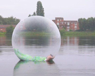 I Spent the Night on a Lake in a Zorb Ball & It Was Insane (Sleep on a Lake Challenge) - i spent the night on a lake in a zorb ball it was insane sleep on a lake challenge