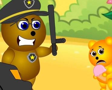 Mega Gummy Bear Caught Stealing Ice Cream In Jail Police Funny Cartoon Finger Family Nursery Rhymes - mega gummy bear caught stealing ice cream in jail police funny cartoon finger family nursery rhymes