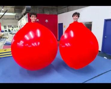 TWINS IN GIANT BALLOONS! - twins in giant balloons