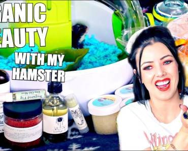 UNBOXING VEGAN,ORGANIC BEAUTY PRODUCTS WITH MY HAMSTER! - unboxing veganorganic beauty products with my hamster