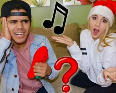 CHRISTMAS SONG CHALLENGE! (FUNNY COUPLE) - christmas song challenge funny couple