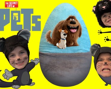 Giant PETS Surprise Egg with Toys From The Movie by HobbyKidsTV - giant pets surprise egg with toys from the movie by hobbykidstv