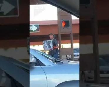 Homeless Guy Funny Sign - homeless guy funny sign