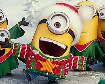 Minions Christmas Funny Movie Mini Movie for Children | Minion Sing Christmas Song - minions christmas funny movie mini movie for children minion sing christmas song
