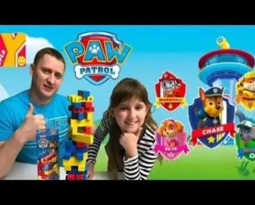 Paw Patrol Jumbling Tower! Challenge! Games For Kids! Best toys! Funny videos! - paw patrol jumbling tower challenge games for kids best toys funny videos